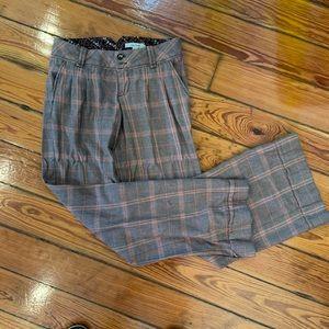 Free People sz 2 wide leg tweed trousers